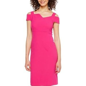 Adrianna Pappell bright Azla pink dress Size 14